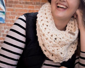 Chunky Knit Cowl - Wool Infinity Scarf - Women's Scarf - Knit Neck Warmer - Pop Over Scarf - Gift for Her - Gift for Women - Winter Fashion