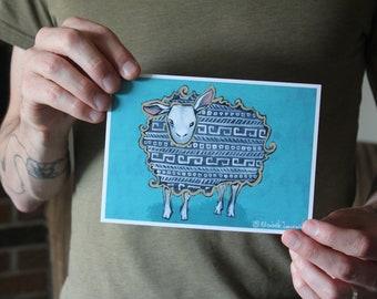 Nordic Sheep; Fine Art Print