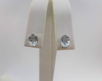 Sterling Silver Aquamarine Earrings