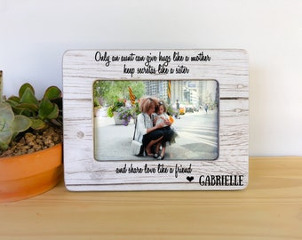 Personalized Gift Frame for Aunt Niece Frame Aunt Frame Love Knows no Distance Quote Morher's Day Gift for Aunt Frame