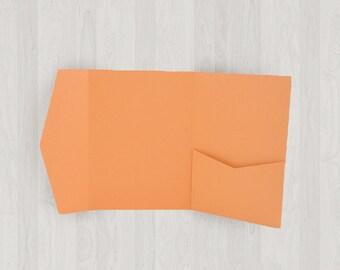 10 Mini Pocket Enclosures - Oranges - DIY Invitations - Invitation Enclosures for Weddings and Other Events