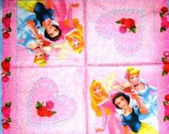 PAPER Princesses and roses #E007 TOWEL