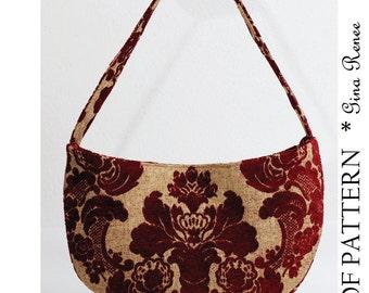Shoulder Bag Pattern. Purse Pattern - PDF pattern.