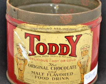 Toddy Chocolate Malt Flavored Drink Tin