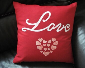 "Removable cushion ""Love"" Red"
