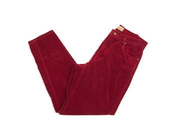 Vintage Red Liz Claiborne Corduroy Pants