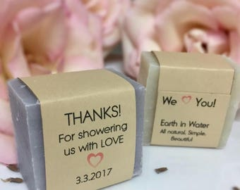 20 Wedding Favors, Baby shower favors, Bridal favors, Personalized label