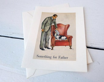 Handmade Vintage Book Father's Day Dad's Birthday Card