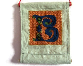 Traditional embroidery kit - Illuminated B