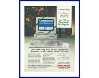 RADIO SHACK Computer Original 1988 Vintage Color Print Ad - The Tandy 1000 TL