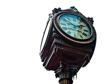Fort Worth Texas - Haltom's Jewlers - Knights of Pythias Castle Hall - Sundance Square - Haltom's Clock