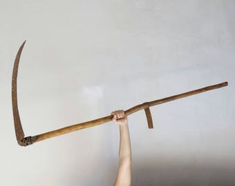 Antique Scythe, Old Sickle, Grim Reaper Blade, Scythe Weapon, Grim Reaper Gun, Scythe, Reaper Costume Accessories, Agricultural Tool