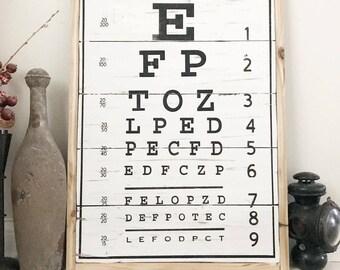 Wood Sign - Eye Chart