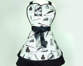 The Raven Edgar allen Poe Inspired Apron