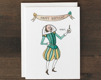 Funny Birthday Card Shakespeare card