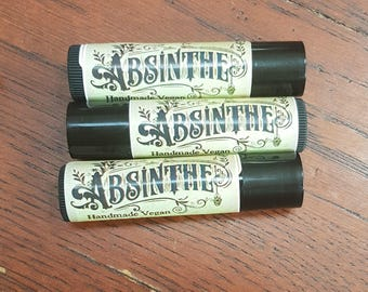 Absinthe lip balm, vegan and all natural