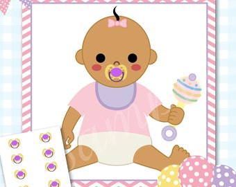 INSTANT DOWNLOAD. Pin the Pacifier Baby Shower Game, Pacifier Shower Game, Baby Girl Baby Shower, Girl Baby Shower - #126