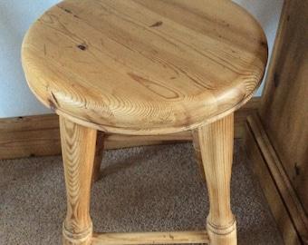 Rustic pine stool