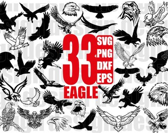 EAGLE SVG, eagle head, eagle silhouette, fierce eagle, american eagle, bird svg, cut files, svg files, cricut, silhouette, print files