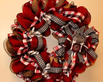 Marvelous Crimson Tide Fanu0027s, Alabama Front Door U0026 Home Decor, Tide Football Wreath,  Bama