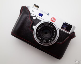 Leather half case for Leica M240