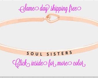 Inspired bangle Bracellet (soul sister )