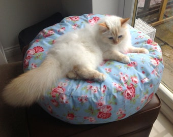 Rosali designed by Cath Kidston, Hand made custom made pet bed cat bed dog bed