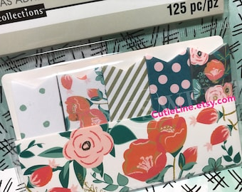 Floral Page Flag Sticky Notes by Recollections - 125pc/pack - Page Marks/Sticky Pads/Page Notes/Flowers/Dots