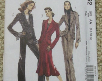 McCall's M5192 Lined jacket, Skirt and Pants Sizes 6-8-10-12