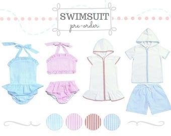 Girls' swimsuit pre-order-ruffle bikini-ruffle onepiece