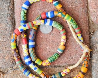 Mixed African Krobo Beads
