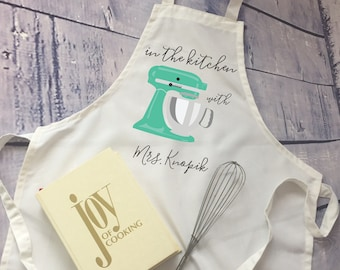 Personalized apron/ in the kitchen with Mrs. / bridal shower gift/ bride gift/ adjustable apron/ wedding gift/ gift for cook