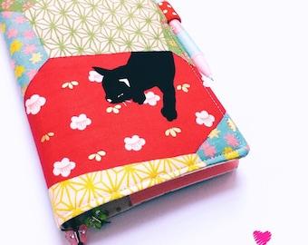 Sleepy Black Cat ~ Hobonichi Weeks Cover