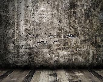 Gray Concrete wall Vinyl Backdrop - Item D3298