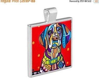 GSP German Shorthaired Pointer Dog Folk Art Jewelry - Pendant Metal  Gift Art Heather Galler Gift - Dog Lovers Pet Art Vegan