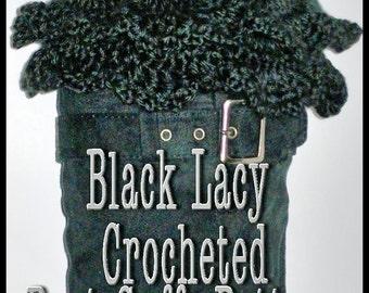 Black Lacy Boot Cuffs Pattern