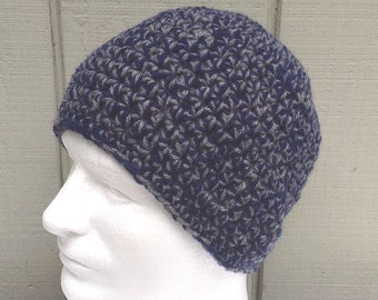 Mens crochet hat - Chunky wool beanie - Teens hat - Mens accessories