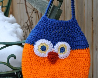 Owl crochet bag! Who wouldn't like such a colorful bag?