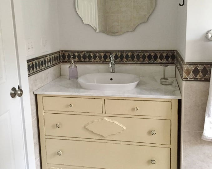 Bathroom VANITY From Antique Dresser! Custom Order In Your Size, Color and Style! Antique Bathroom Vanity Single or Double Sink