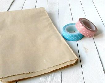 5 x 7.5 kraft brown paper bags, candy buffet bags, flat paper bags, merchandise bags, kraft bags, kraft paper favor bags, blank paper bags