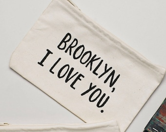 Brooklyn, I Love You Zippered Pouch