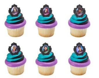 Disney Descendants 2 Rebel Attitude cupcake rings (24) party favor 2 dozen