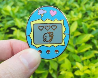 Pikagotchi Enamel Pin (Pikachu x Tamagotchi)