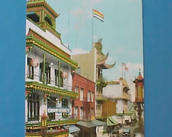 Handsome Edwardian Era Postcard of Business Section of Chinatown, San Francisco