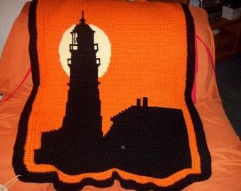 Crochet Lighthouse Afghan (The Sunset)