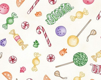 Candy Print from Gingerbread Square Fabrics