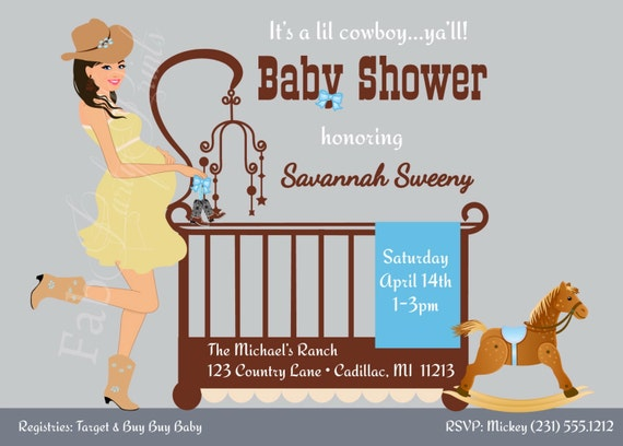 Cowboy baby shower invitation country western baby shower like this item filmwisefo Images