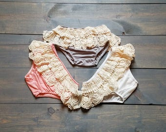 Infant Baby Girl Lace Romper Diaper Cover # G-22