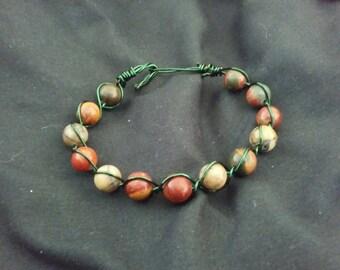 Red Jasper Wire Wrapped Bracelet