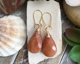 Stunning handcrafted gemstone earrings .